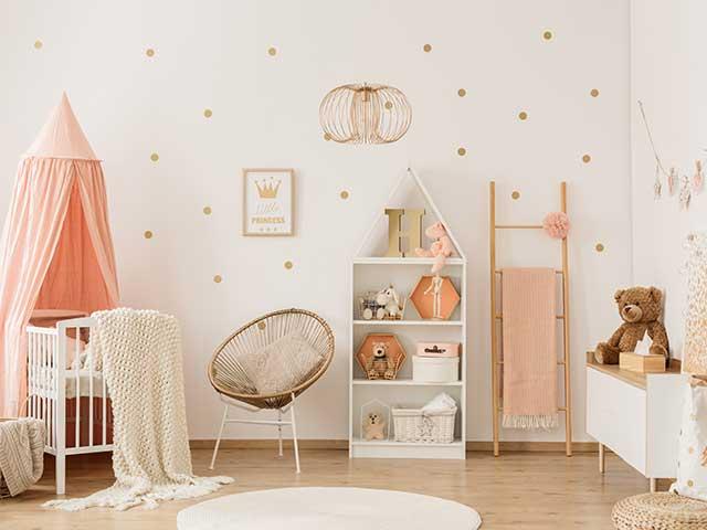 Nursery with canopy