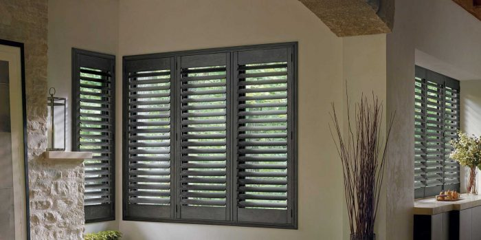 Foyer with hardwood shutters